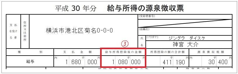 源泉徴収票③